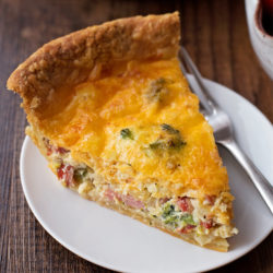 Ham Bacon and Broccoli Quiche