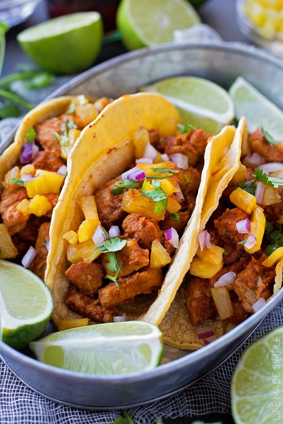 Homemade Tacos Al Pastor