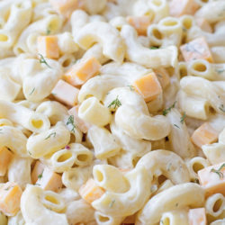 Creamy Cheddar & Dill Macaroni Salad