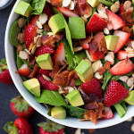 Strawberry Avocado & Spinach Salad