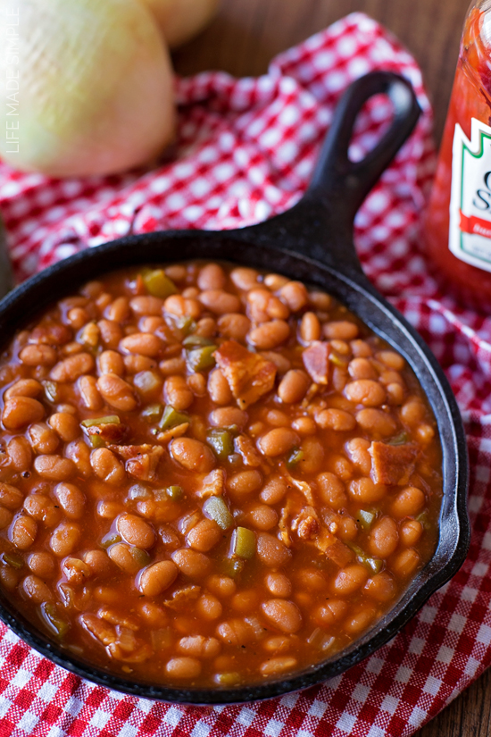 how to serve canned baked beans