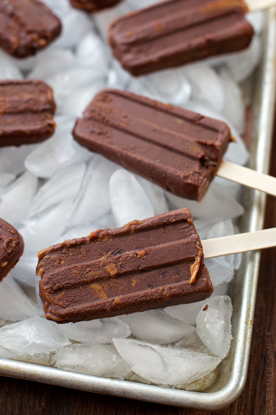 Dark Chocolate Peanut Butter Cup Fudgsicles