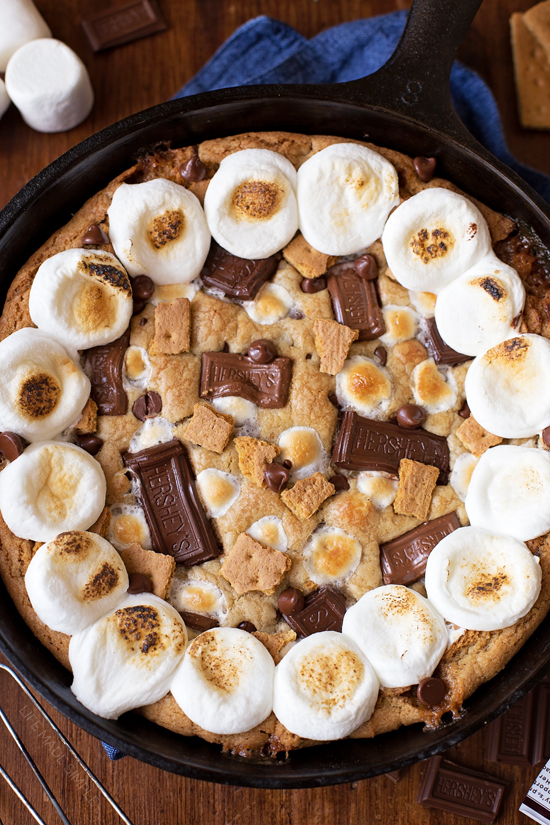 S Mores Skillet Cookie Cake