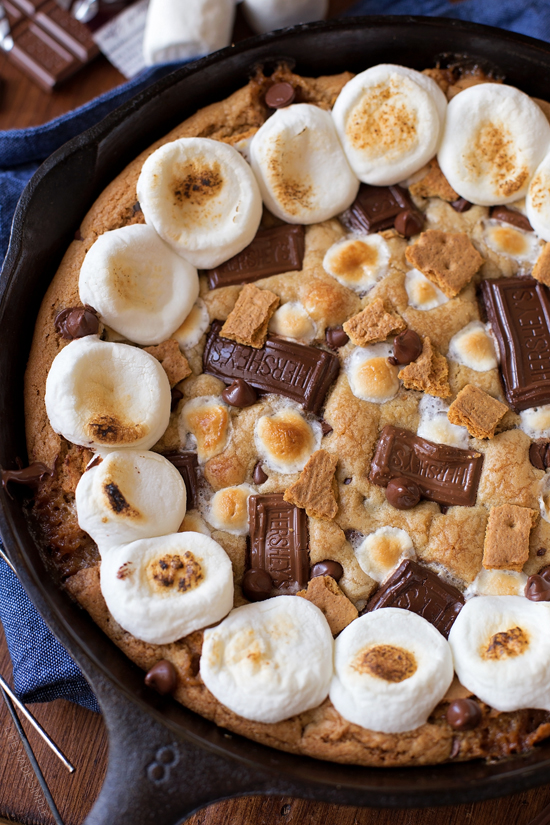Chocolate Peanut Butter Skillet Cookies