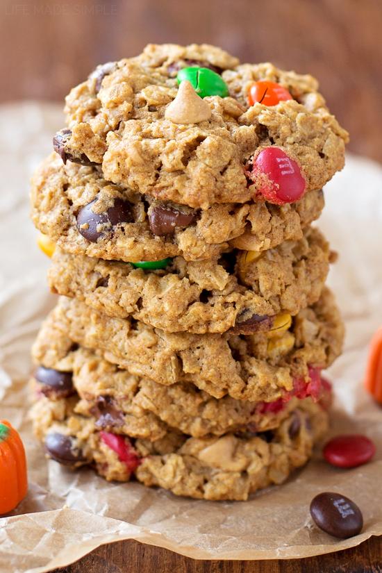 Pumpkin Spice Monster Cookies