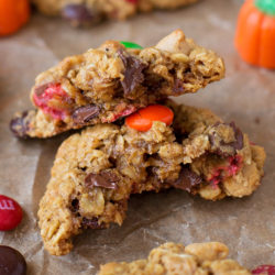 Pumpkin Spice Monster Cookies