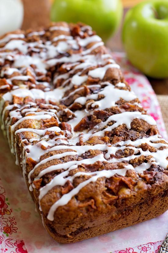 Glazed Apple Fritter Bread