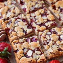 Strawberry Almond Shortbread Bars
