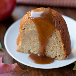Apple Bundt Cake with Apple Cider Caramel Sauce