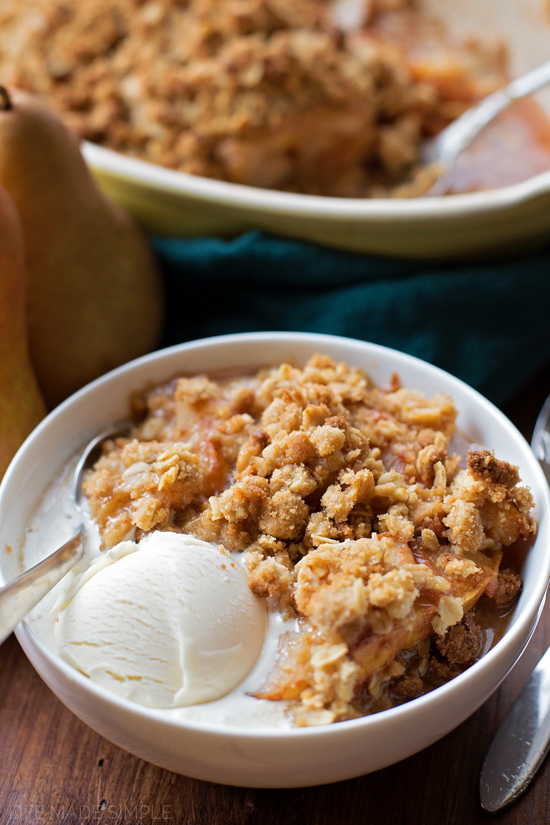Browned Butter Pear Crisp