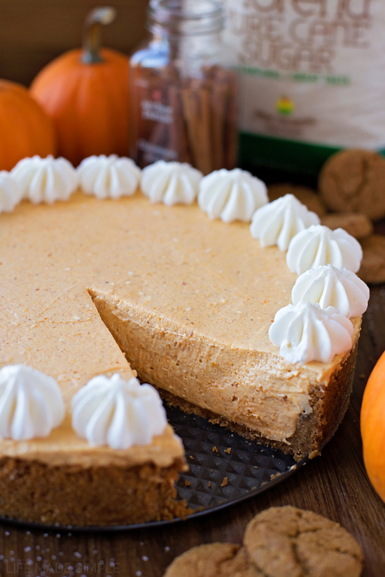 No-Bake Pumpkin Cheesecake