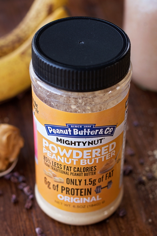 Chocolate Peanut Butter Banana Smoothie | lifemadesimplebakes.com