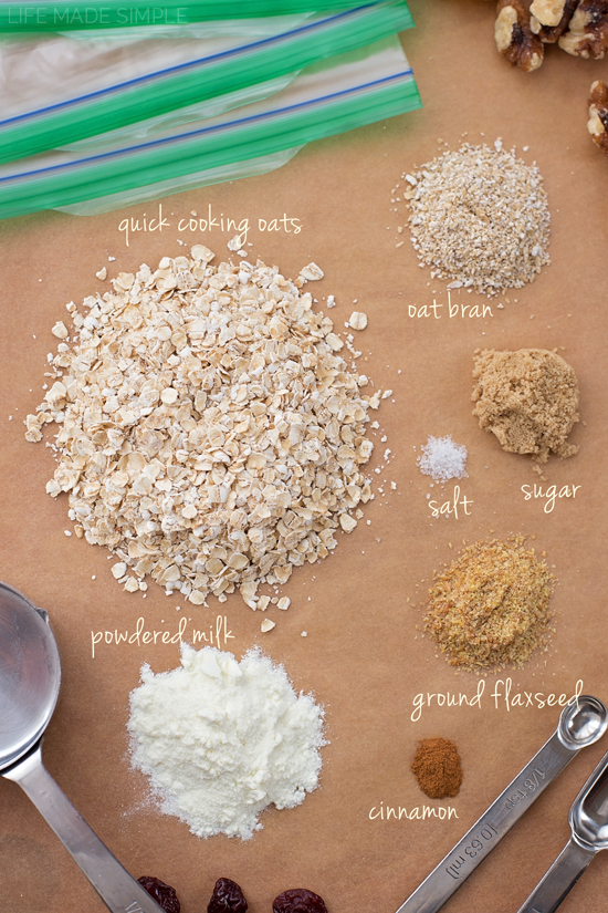 Homemade Instant Oatmeal | lifemadesimplebakes.com