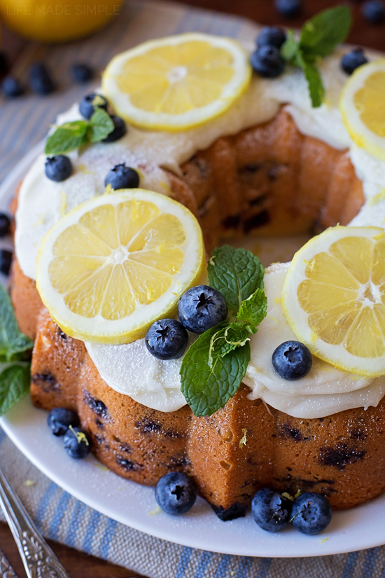 Blueberry Lemon Bundt Cake | lifemadesimplebakes.com