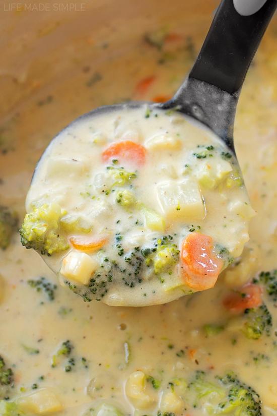 Cheesy Vegetable Chowder   lifemadesimplebakes.com