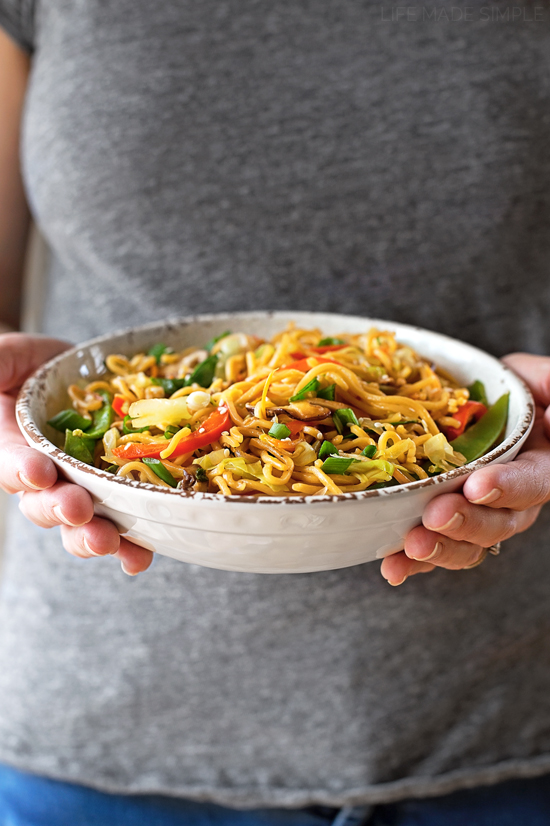 Vegetable Ramen Stir Fry | lifemadesimplebakes.com