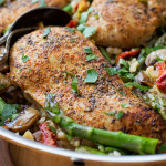 Tuscan Chicken and Rice Skillet