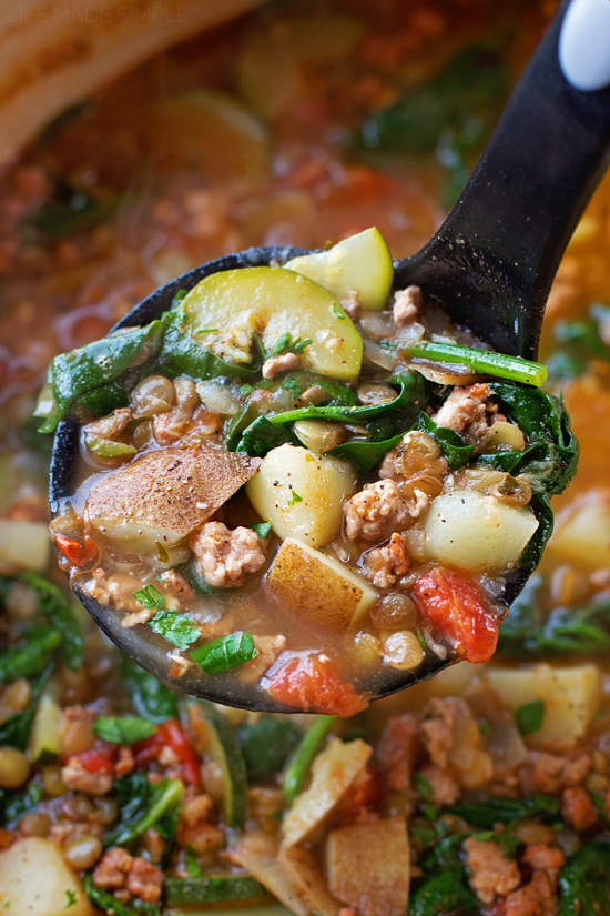 Tuscan Lentil Soup   lifemadesimplebakes.com