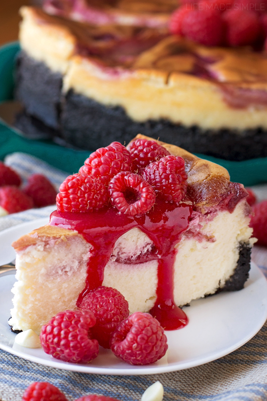 White Chocolate Raspberry Cheesecake Life Made Simple