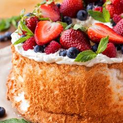 Classic Angel Food Cake   lifemadesimplebakes.com