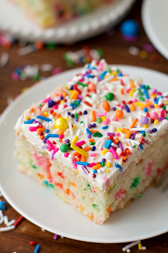 Cake Decorating Homemade : Homemade Funfetti Cake - Life Made Simple