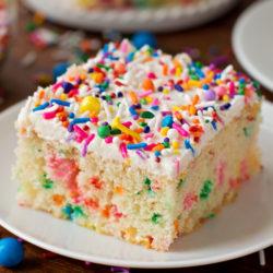 Homemade Funfetti Cake   lifemadesimplebakes.com