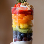 Rainbow Fruit & Yogurt Parfaits