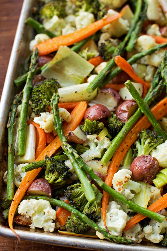 Roasted Spring Vegetables | lifemadesimplebakes.com