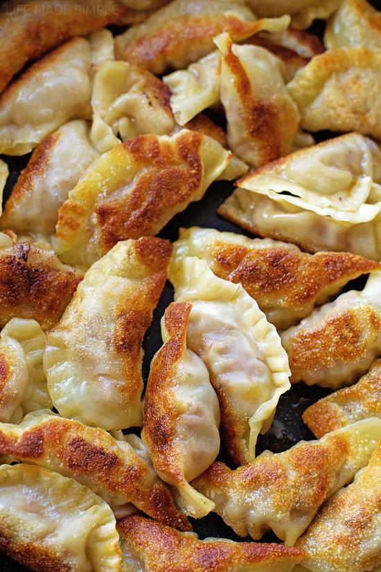Pan Fried Pork and Shrimp Potstickers Recipe