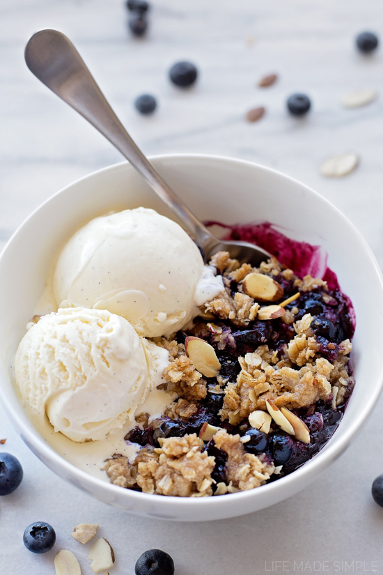 Blueberry Crisp | lifemadesimplebakes.com