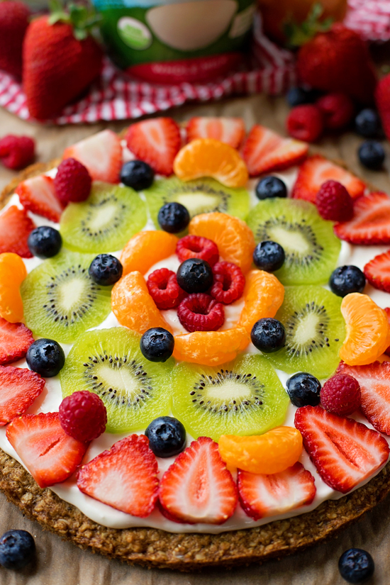 Healthier Breakfast Fruit Pizza 1