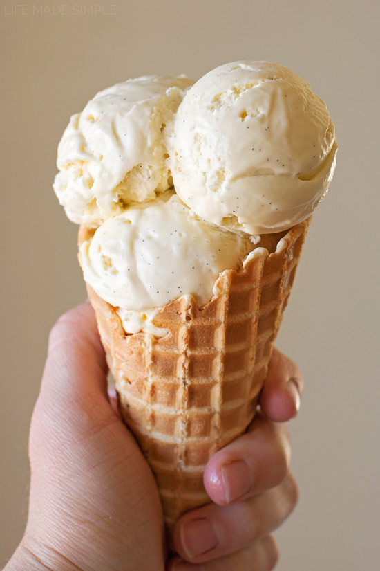 Homemade Vanilla Bean Ice Cream   lifemadesimplebakes.com