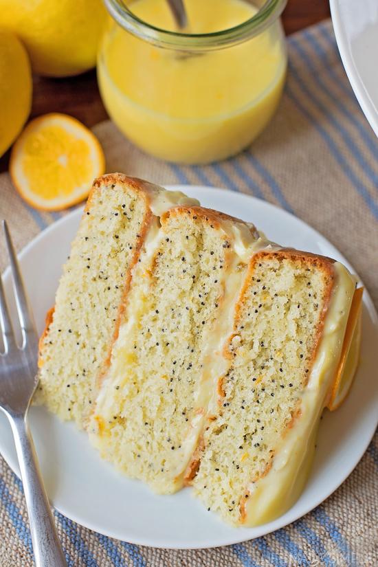 Lemon Poppy Seed Layer Cake   lifemadesimplebakes.com