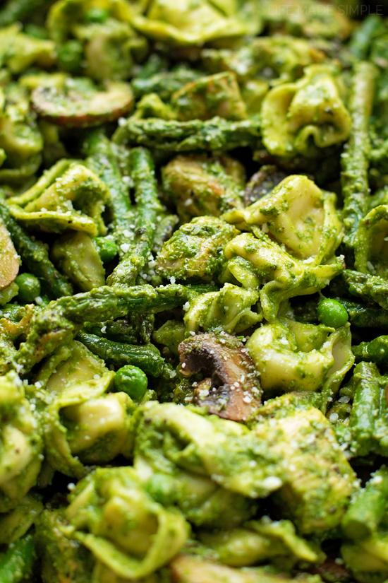 Spring Pesto Tortellini | lifemadesimplebakes.com