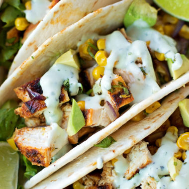 Chili Lime Chicken Tacos | lifemadesimplebakes.com