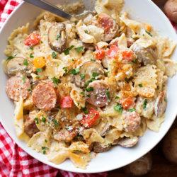 One-Pot Cajun Alfredo Pasta | lifemadesimplebakes.com