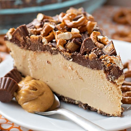 Frozen Peanut Butter Pretzel Pie - Life Made Simple