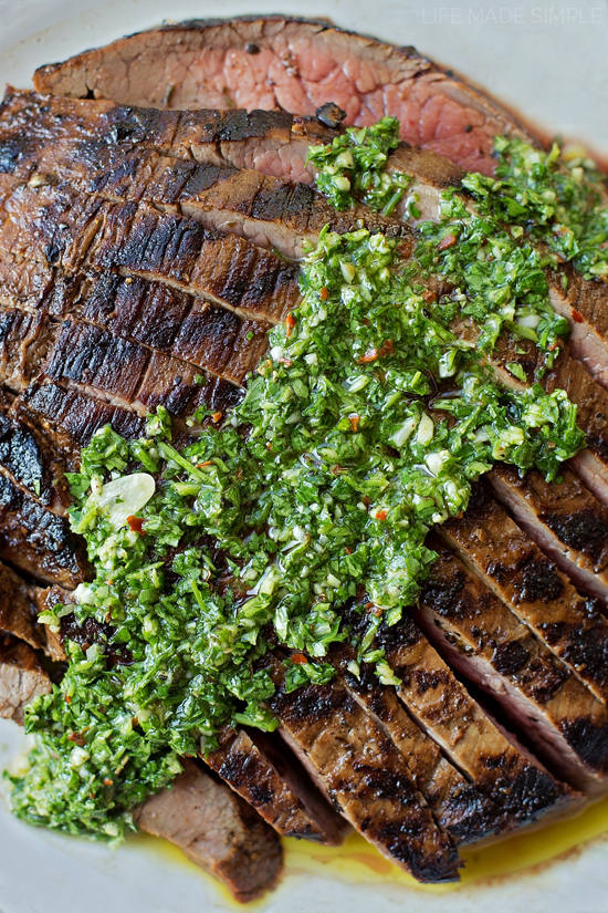 how to make chimichurri steak