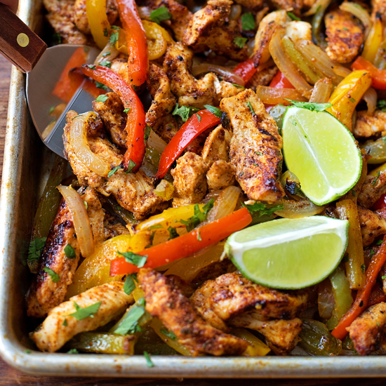 Sheet Pan Chicken Fajitas - Life Made Simple