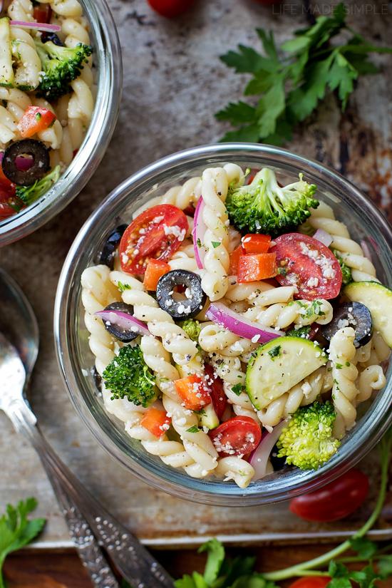 Summer Veggie Pasta Salad   lifemadesimplebakes.com