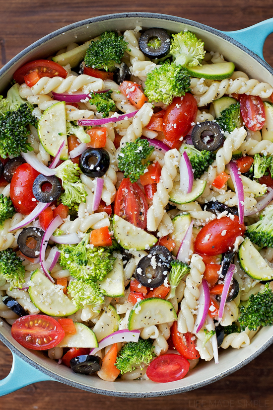 Summer Veggie Pasta Salad Lifemadesimplebakes
