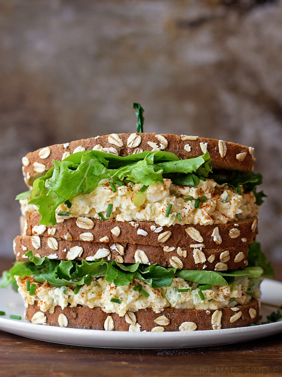 Deviled Egg Salad Sandwiches | lifemadesimplebakes.com