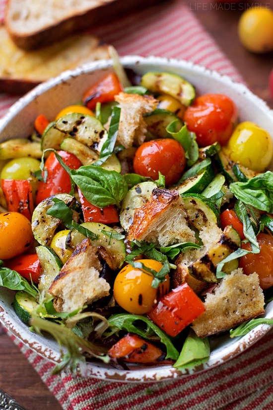Grilled Panzanella Salad   lifemadesimplebakes.com