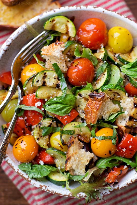 Grilled Panzanella Salad | lifemadesimplebakes.com