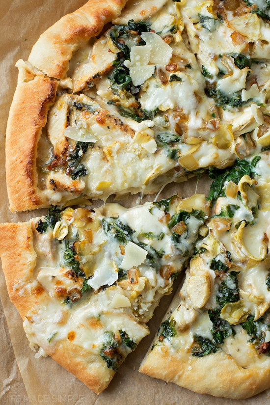 Spinach Artichoke Pizza | World Recipes Collection