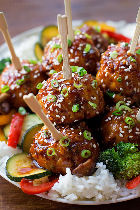 Sticky Asian Meatballs | lifemadesimplebakes.com