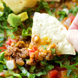 15 Minute Cheesy Taco Skillet | lifemadesimplebakes.com
