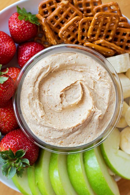 3-Ingredient Peanut Butter Yogurt Dip   lifemadesimplebakes.com
