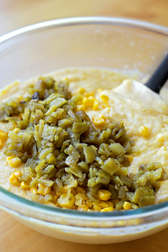 Hatch Chile Cornbread | lifemadesimplebakes.com