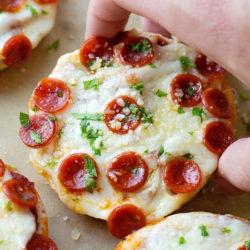 Homemade Pizza Bagel Bites | lifemadesimplebakes.com